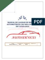 Manual de Calidad Autoservices