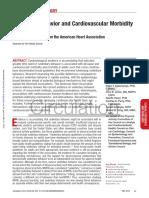 Sedentary Behavior and Cardiovascular Morbidity and Mortality