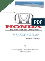 Marketing Plan - Honda Vietnam