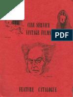 Cine-Service Vintage Films Feature Catalogue