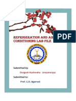 Refrigeration and Air Conditioning Lab File