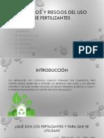 Beneficios y Riesgos Del Uso de Fertilizantes