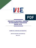 1. Metodologia Xiii Encuesta Nacional Urbana de Seguridad Ciudadana 2016