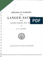 Principes Et Eléments de La Langue Sacrée Selon l'Astro-Kabbale d'Al Chami