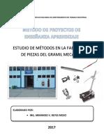 Método de Proyectos - Estudio de Métodos en El Gramil Mecánico