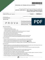 Fcc 2014 Trt 2 Regiao Sp Analista Judiciario Psicologia Prova