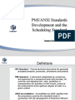 PMI-ANSI Standards Development and the Scheduling Standard