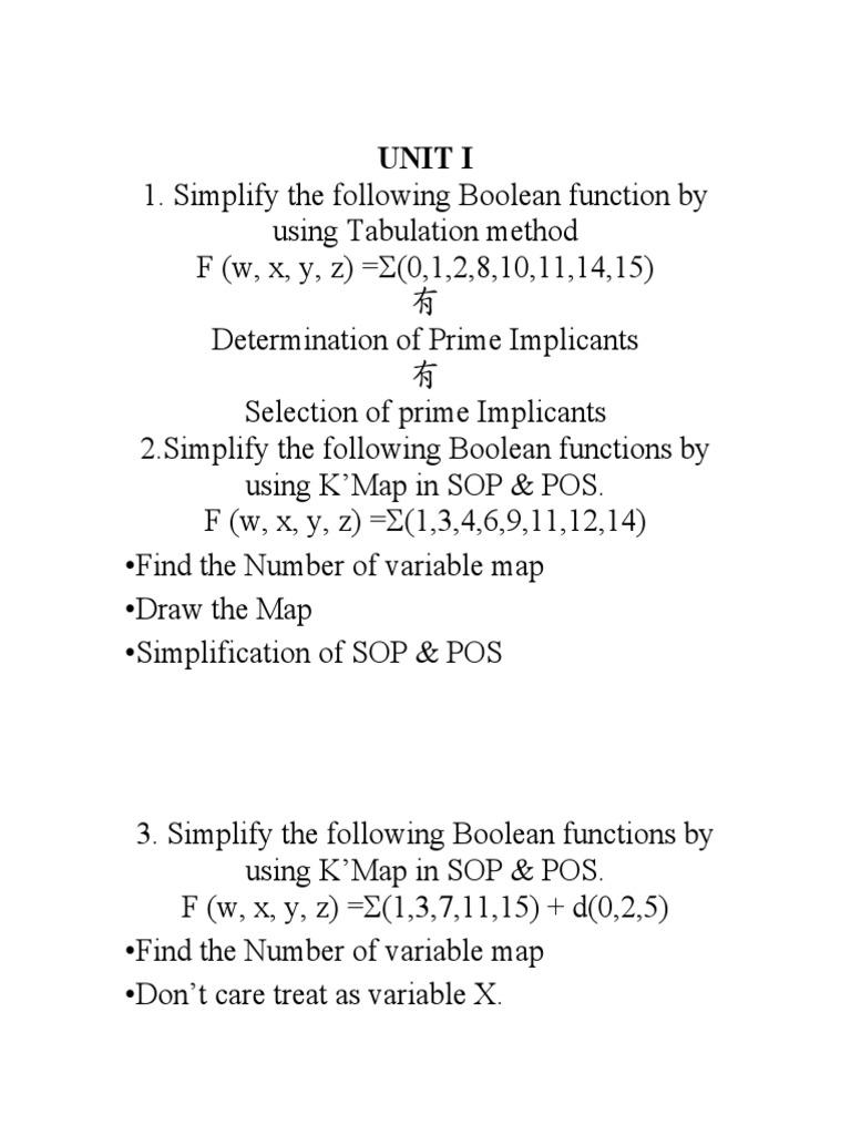 Important Big Questions In Dpsdl Boolean Algebra Logic Simplification Of Full Adder