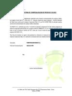 Carta Aclaratoria de Disposición de RR Peligrosos - ALSASER