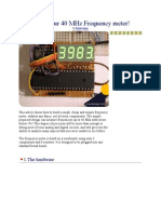40 MHz Frequency Meter