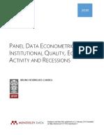 Panel Data Econometrics - Institutional Quality, Economic Activity and Recessions