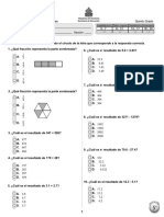Prueba Diagnóstica 5º Matemáticas (2011)
