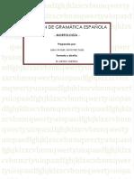 Resumen de Gramática Española Morfología