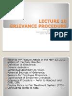 Topic 10 - Grievance Procedure