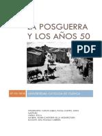 La Posguerra y Los Años 50