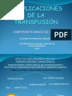 Reacciones Transfusionales Banco de Sangre (1)
