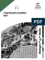 Programa para el profesor Biología  1° y 2° Medio 2017