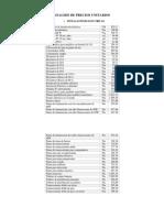 Analisis de Precios Unitarios Instalaciones Eléctricas