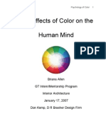 Microsoft Word - The Effects Color on the Human Mind