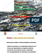 2. Texturas minerales