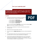 Leadership Module What is Your Leadership Style