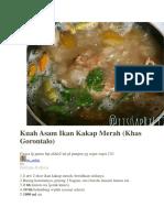 resep ikan kakap