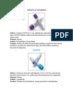 Tubos Vacutainer Colores Y Usos (Anticoagulantes in vitro)