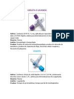 Tubos Vacutainer Colores Y Usos (Anticoagulantes in vitro)