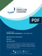 Encuesta de Proyección Ciudadana.