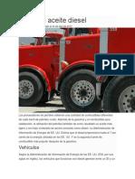 Usos Del Aceite Diesel