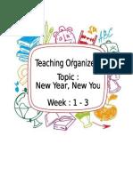 Teaching Organiser 1 3