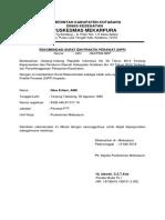Surat Rekomendasi Sipp
