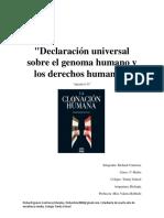 Ensayo Biologia sobre articulo 11 del genoma humano- Unesco