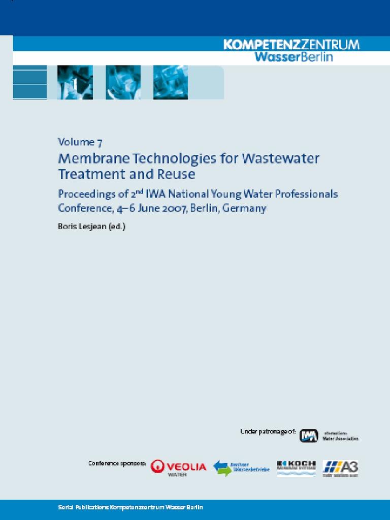 Schriftenreihe Kwb Band7 Web | Membrane | Reclaimed Water