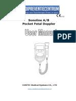 Fetal Doppler Sonoline b Contec Manual Handleiding Gebruiksaanwijzing Baby Hartslag Meter Monitor Sonotrax Har