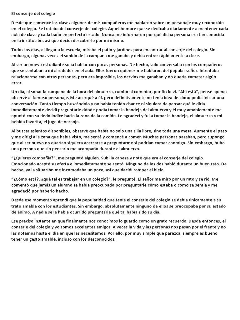 Excelente Ejemplos De Reanudar Para Conserje Patrón - Colección De ...