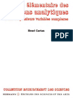 H.cartan-Theorie Elementaire Des Fonctions Analytiques D_une Ou Plusieurs Variables Complexes (He