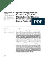 Efektifitas Penggunaan Cold Pack PADA FRAKTUR