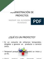 Administración de Proyectos Sem1