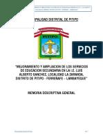 01 Memoria Descrip General La Zaranda