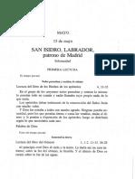 Lecturas Misa San Isidro