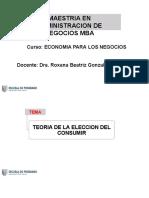 MBA-EPN-SESIÓN 5-Teoría de La Elección Del Consumidor