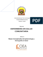 Modulo 1 1. Concepto y Usos de La Epidemiologia