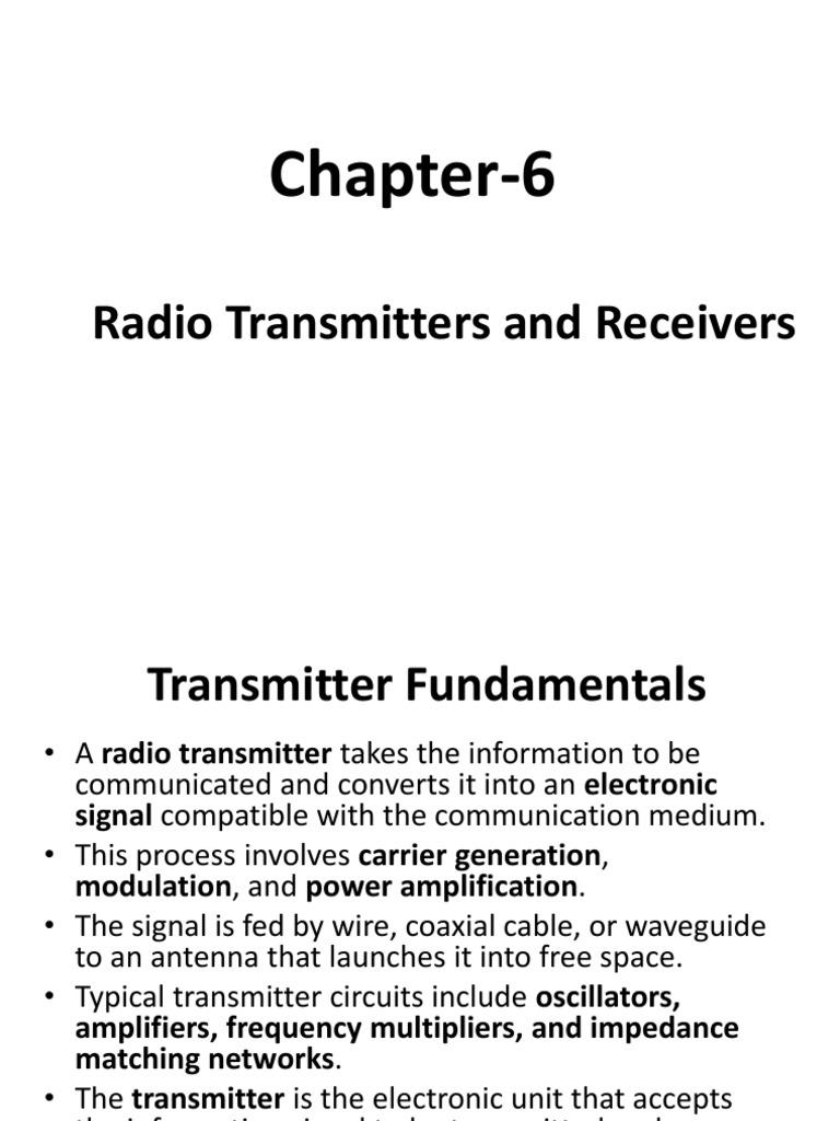 Ch-6 | Amplifier | Detector (Radio)