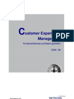 Detecon Opinion Paper Customer Experience Management. Kundenerlebnisse profitabel gestalten