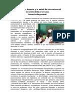 La Salud de Los Docentes en ElPerú