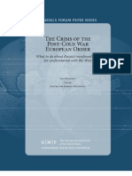 The Crisis of the Post-Cold War European Order