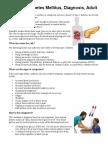 Type 2 Diabetes Mellitus Diagnosis Adult