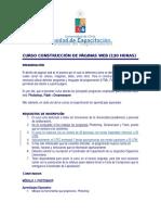 Programa Curso Construccion de Paginas Web Doc 187 Kb