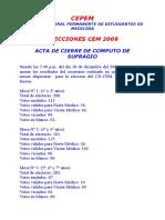 Acta Final 2008